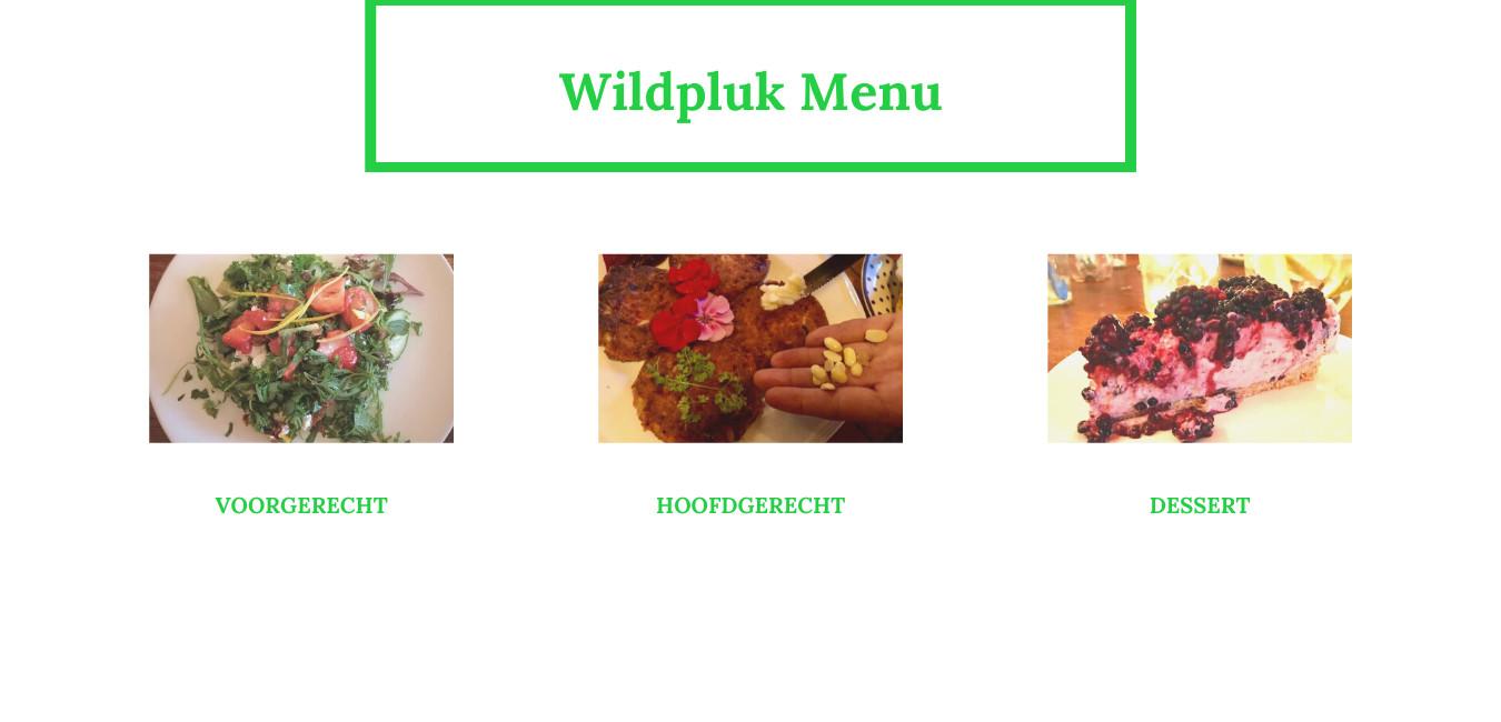 Wildpluk-Menu